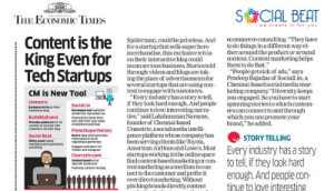 Content Marketing helps startups connect – Social Beat featured in the Economic Times
