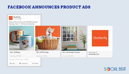 Facebook announces product ads for ecommerce