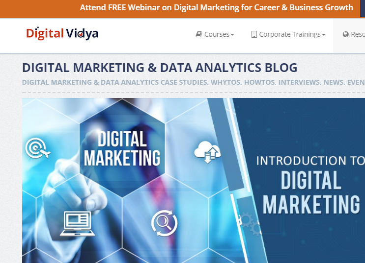 Digital Marketing Data Analytics Blog