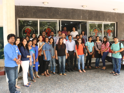 The team heads for authentic south indian food