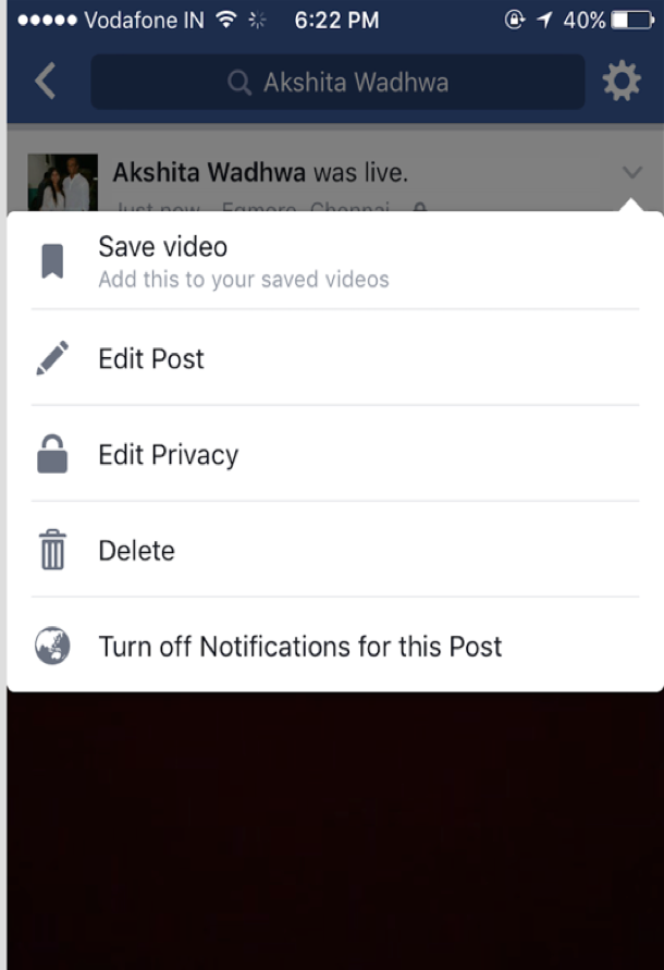 Facebook Live - Change privacy settings