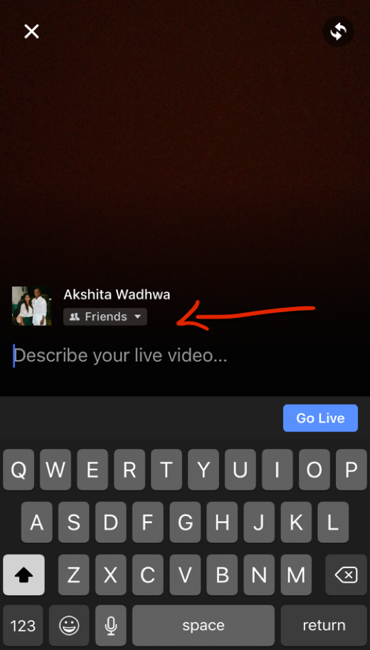 Facebook Live - Customise your Privacy settings