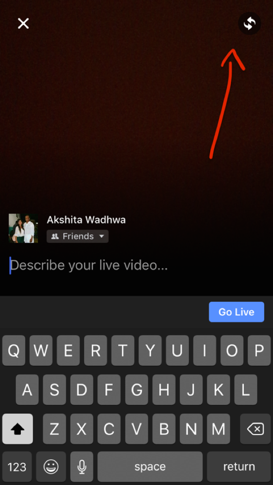 Facebook Live - Set up your Camera view