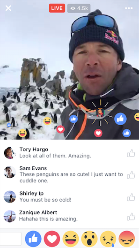 Facebook Live - Interaction with commenters and viewers