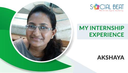 My Internship Experience- Akshaya Balasubramani