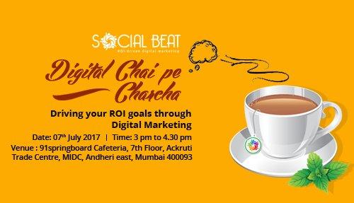 How to get ROI from digital marketing- Digital Chai Pe Charcha, Mumbai