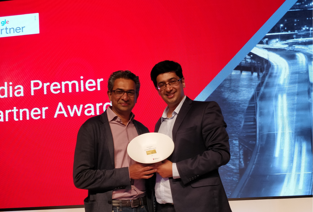 Social Beat wins the Display Innovation Award from Google Premier Partners in India
