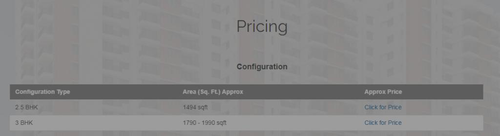 Click on Price