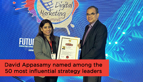 David Appasamy named among the 50 most influential strategy leaders