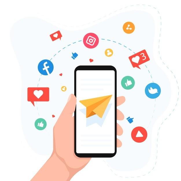 social media marketing mobile phone concept 23 2148424880